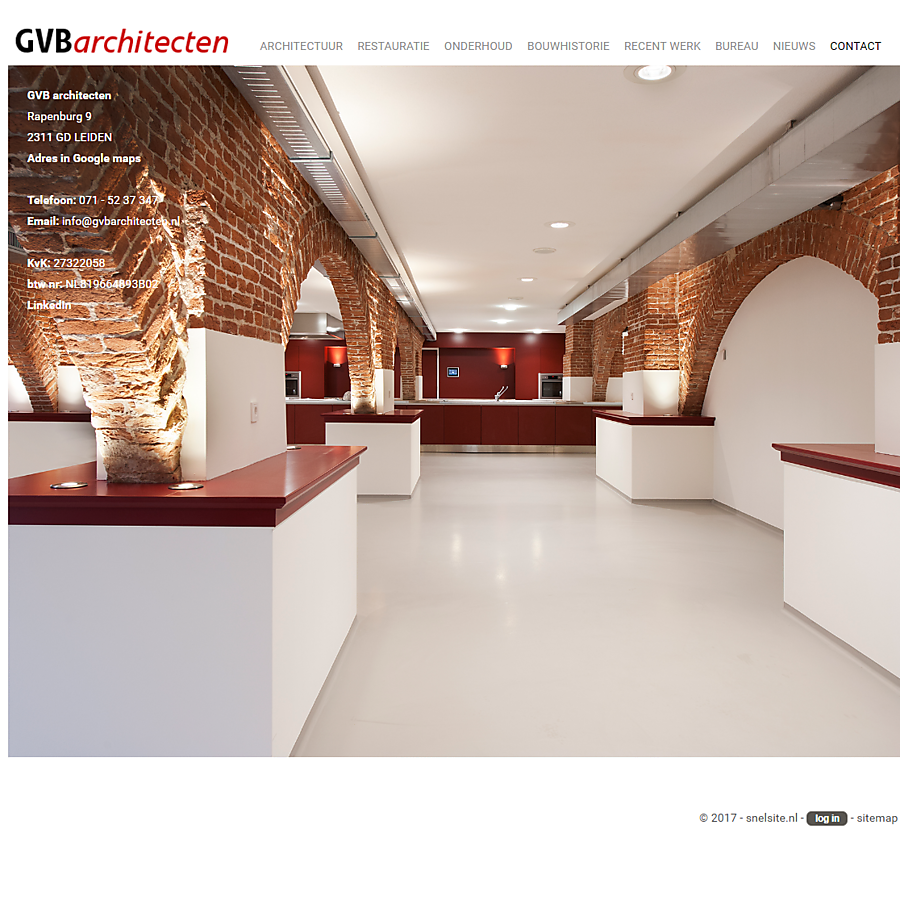 Portfolio website voor architect
