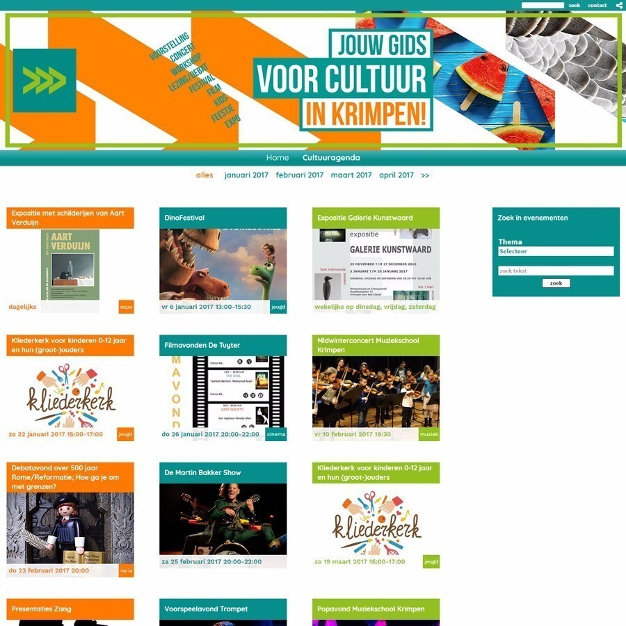 Website met agenda en form2site